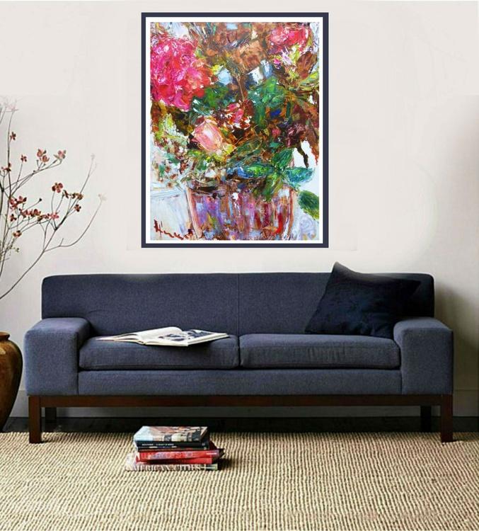 Flowers. Bouquet. 90x70cm - Image 0