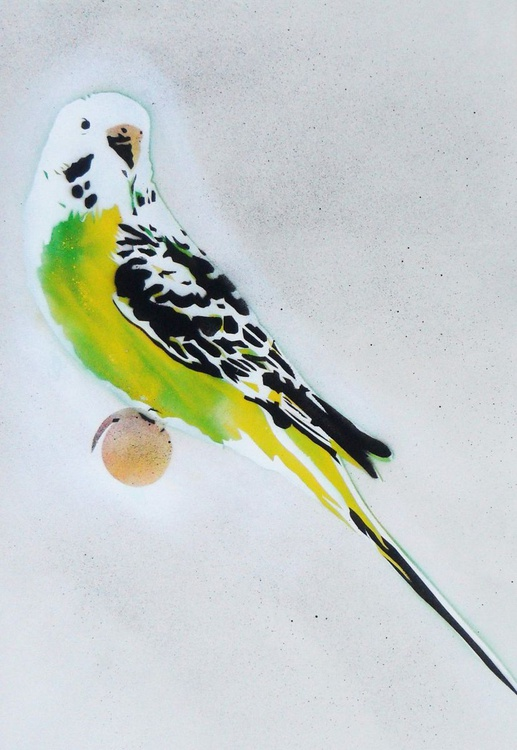 Grandma's Other Budgie + Free Poem (On Paper) - Image 0