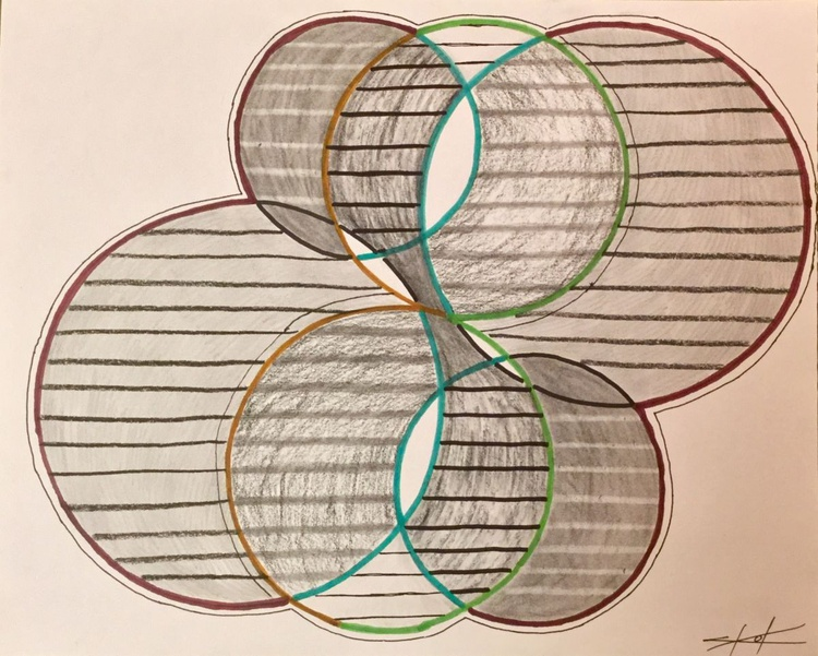 Circles and lines  (day sketch 4) - Image 0