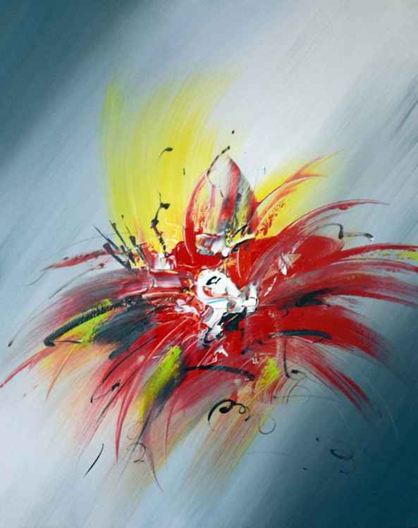 A Rose is Not Just a Rose… - Abstract Acrylic Art Painting - 28x35 inch, 2016  [Discounted Sale]