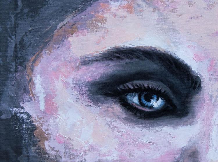 """Lyrical girl"", original acrylic painting, 45x75cm, ready to hang - Image 0"
