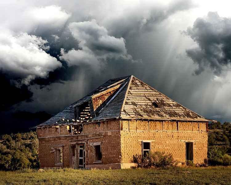 Abandoned Adobe Farm House