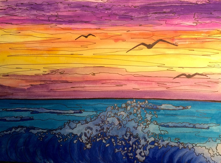 Three Sea Gulls - Image 0