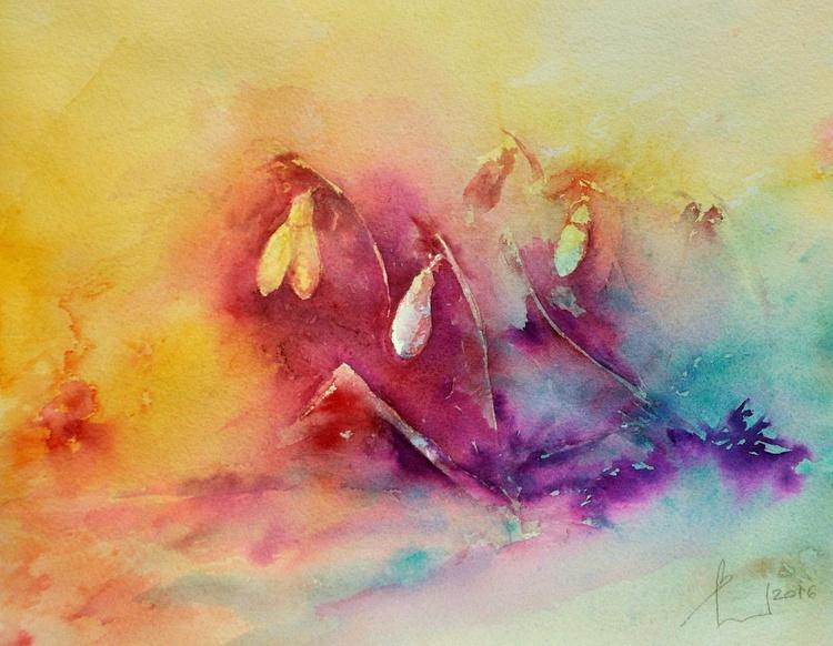 SPRING AGAIN original watercolour 32x25 - Image 0