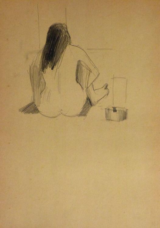 Seated Nude 5, 21x30 cm - Image 0