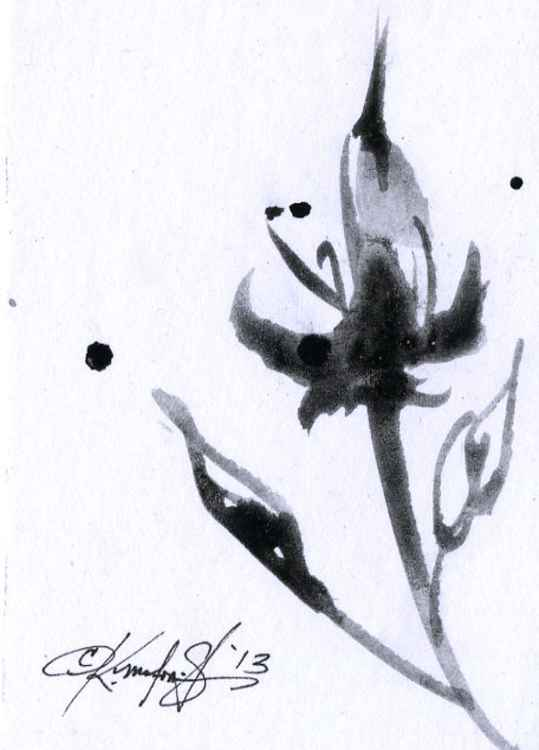 Brushstroke Floral No. 18 - Minimalist Abstract -