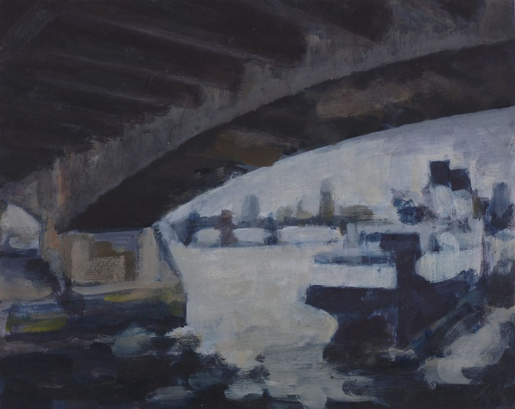 Under Waterloo bridge sketch - Image 0