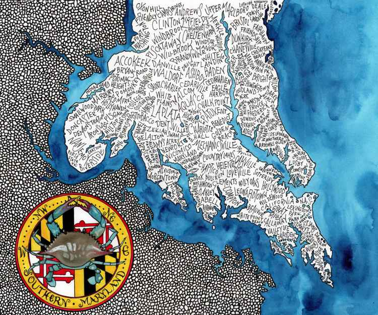 Southern Maryland Word Map -