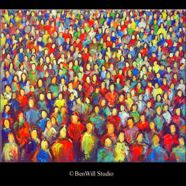 Anonymity : Faces in the Crowd 36x30 - Image 0