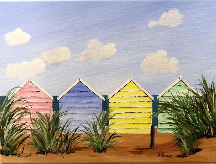 Beach huts and sun - Image 0
