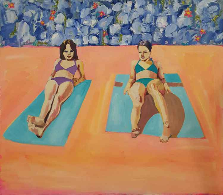 Girls Sunbathing -