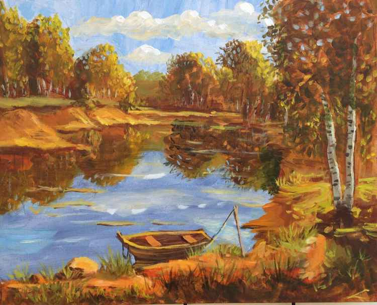 Landscape with a boat -