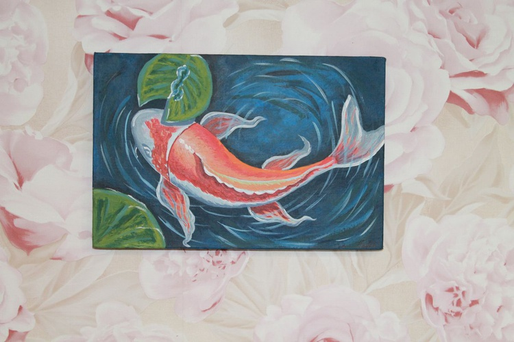 "Painting ""Japanese koi carp."" - Image 0"