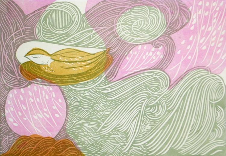 Purple Moor Grass and Ground Nesting Bird - Image 0