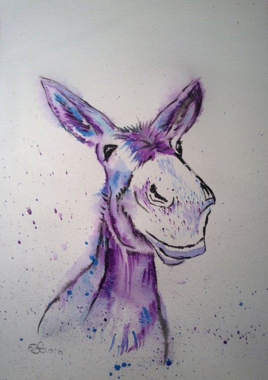 """""""Ned"""" 11 X 15 inch watercolour, mounted ready to frame - Image 0"""