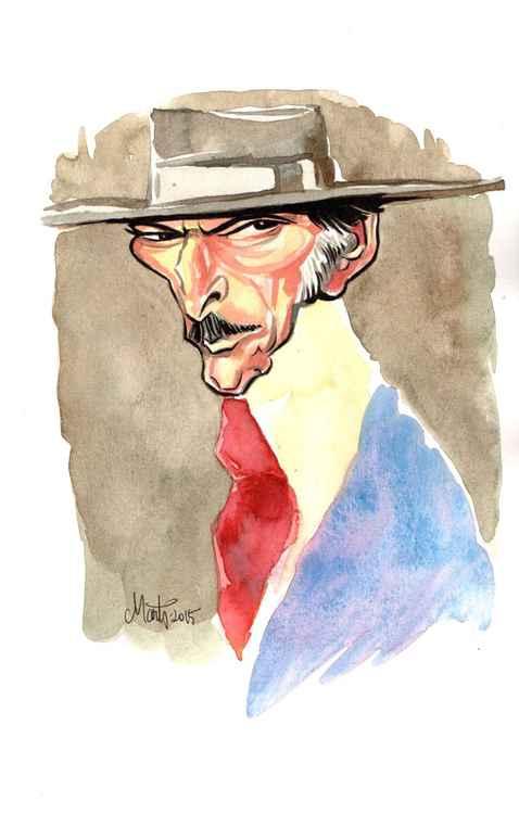 Lee Van Cleef Caricature