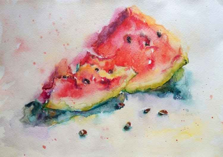 """Slices of watermelon"""