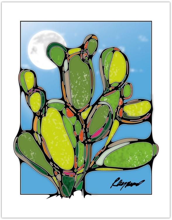 "Cacti III ""Mid-Day Moon"" - Image 0"