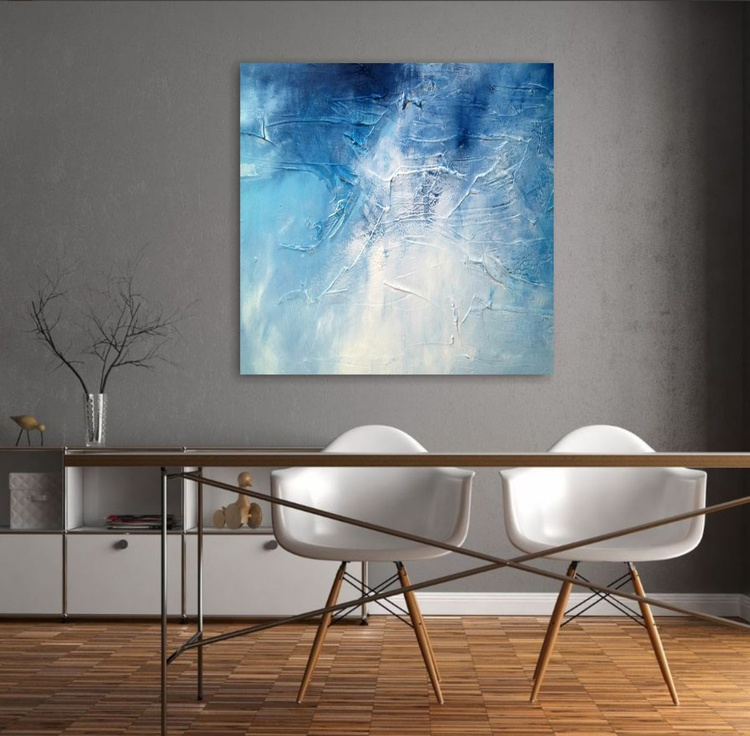 Frozen Series 3 Textured abstract painting - Image 0