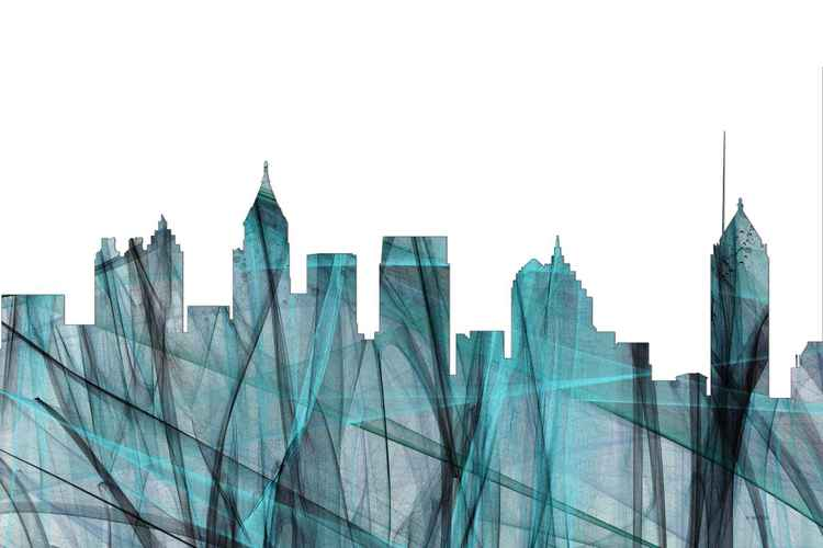 Atlanta, Georgia Skyline - Turquoise Storm