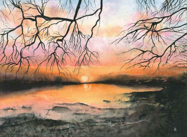Estuary Sunrise  -  SOLD -