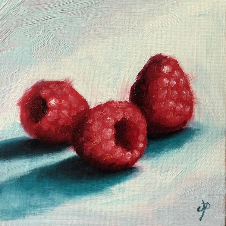 Raspberries On blue - Image 0