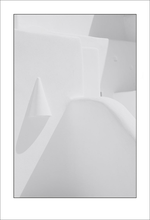 From the Greek Minimalism series: Greek Architectural Detail (White and White) # 9, Santorini, Greece - Image 0