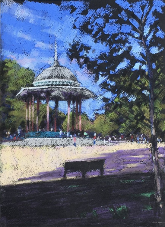 Clapham Common bandstand, high summer - Image 0