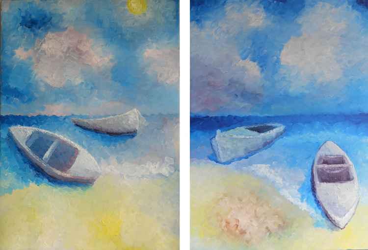 Blue sea scape -