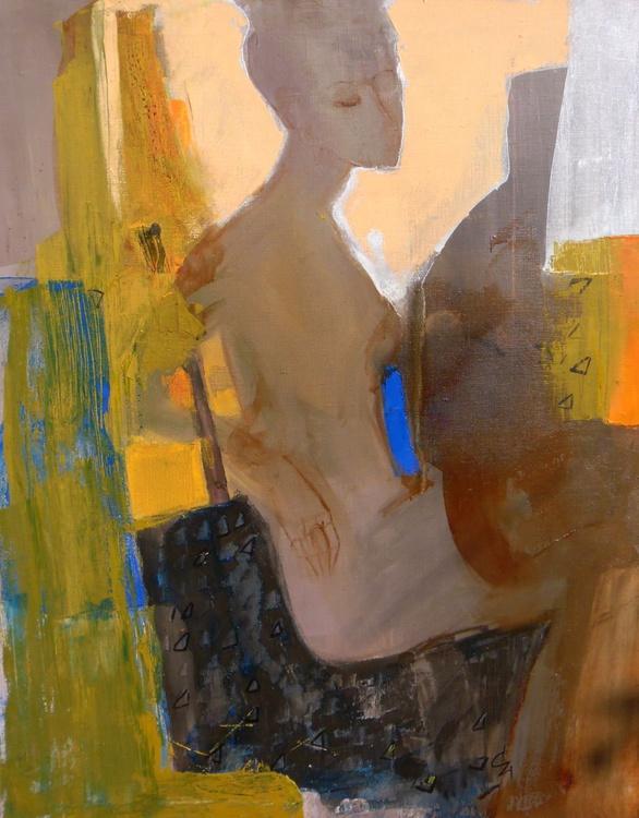 Model 70x90cm canvas, linen. - Image 0