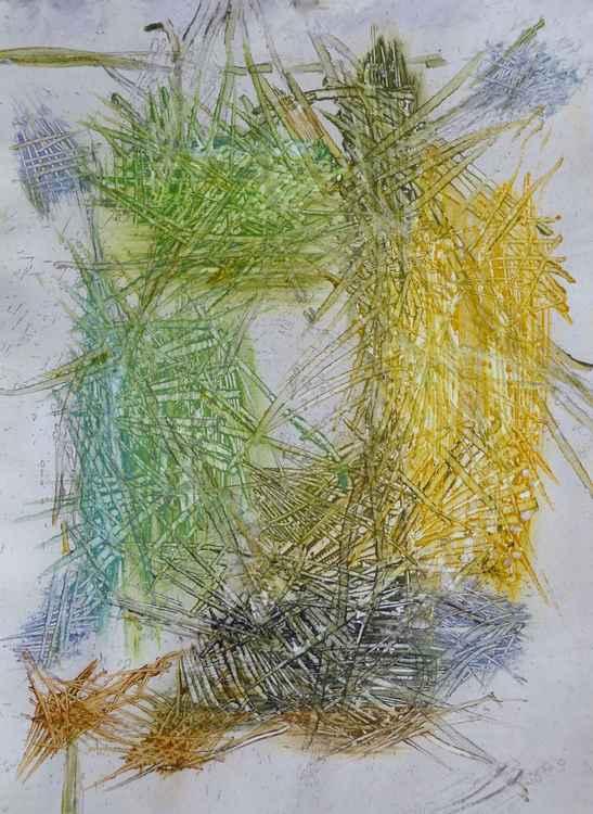 Velocity #8 , Acrylic on paper 29x41 cm -