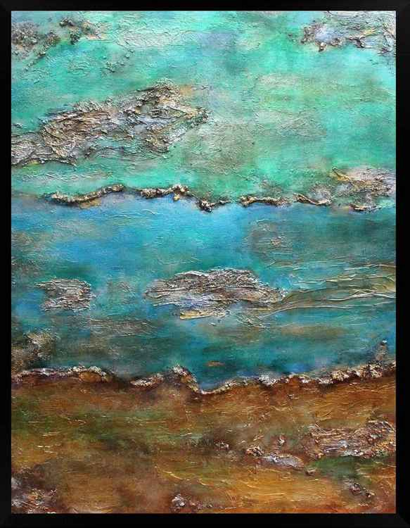 Oceans Alive No. 3 Large Acrylic Painting (framed)