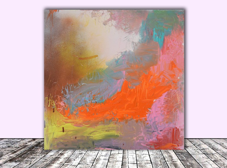 MINUET - 50X50 cm - Abstract, Ready to Hang, Office Wall Decoration - Image 0