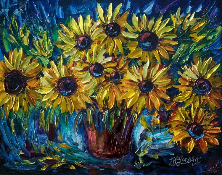 Sunflowers (Palette Knife) - Image 0
