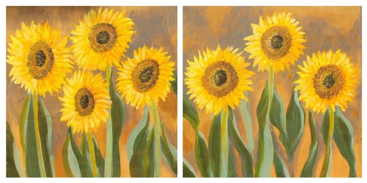Sunflowers Diptych - Image 0