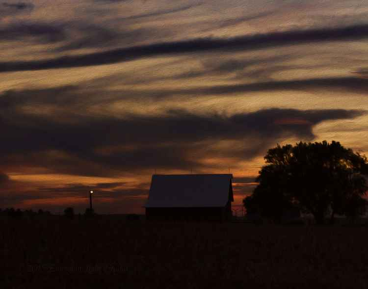 Dusk on the American Prairie