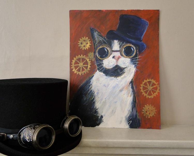 Steampunk Topper Cat - Image 0