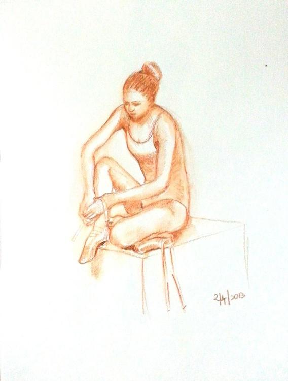 A pensive ballet dancer - Image 0
