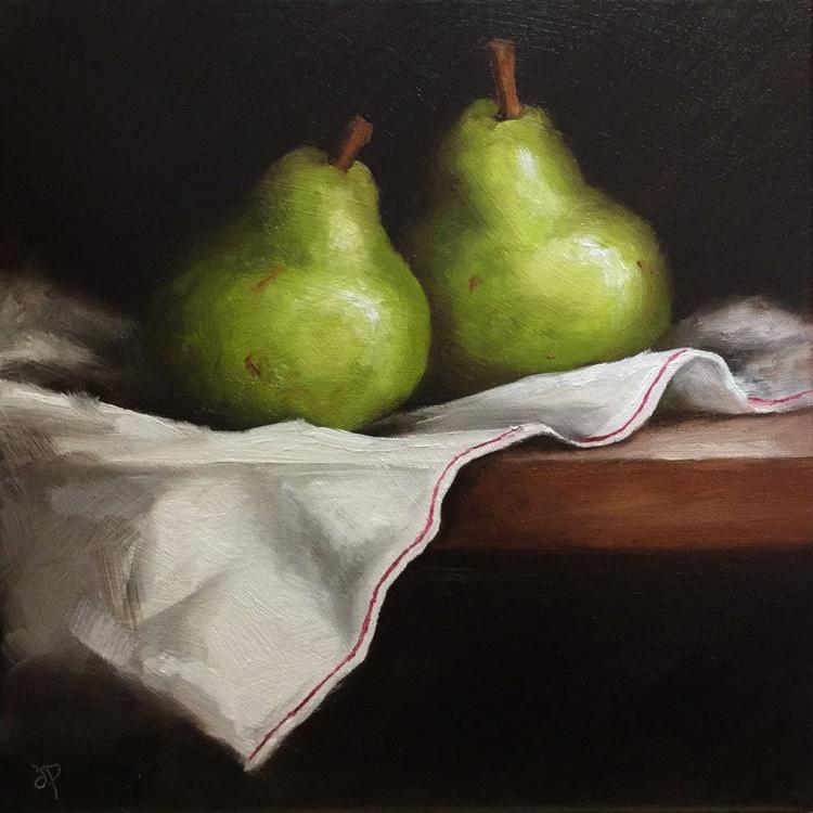 Pears on cloth - Image 0