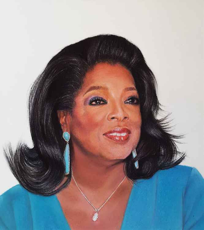 Portrait of Oprah Winfrey -