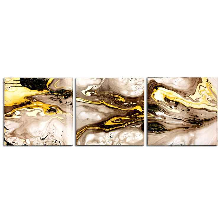 Lava Flow Gold | Gold Metal Art - Abstract Painting - Swirling Modern Wall Art - Abstract Yellow Grey Black Artwork - Liquid Gold Painting