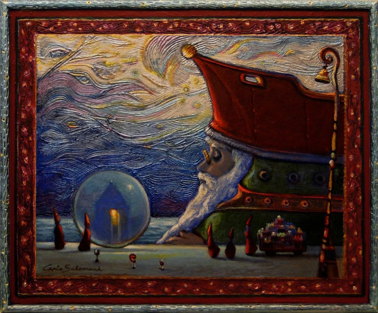 THE SHIP OF CHRISTMAS GIFTS - ( framed ) - Image 0
