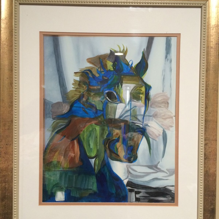 Horse series#4 picasso blue - Image 0