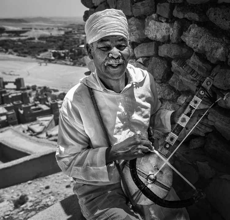 The Musician of Ait Benhaddou -