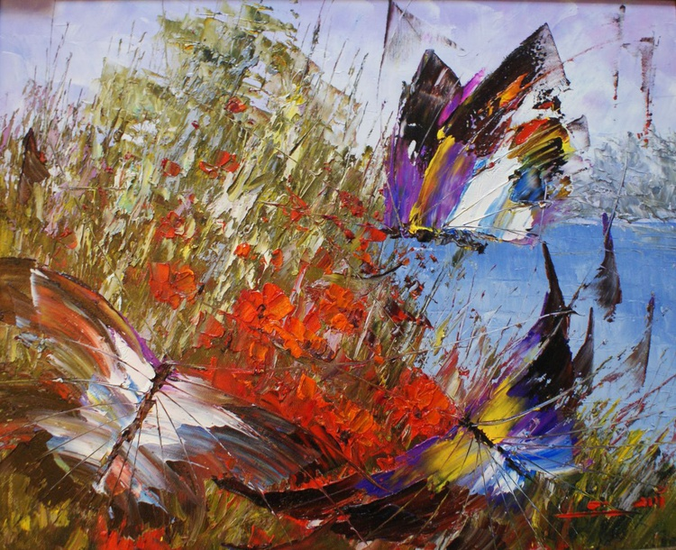 "The painting ""butterfly"". - Image 0"