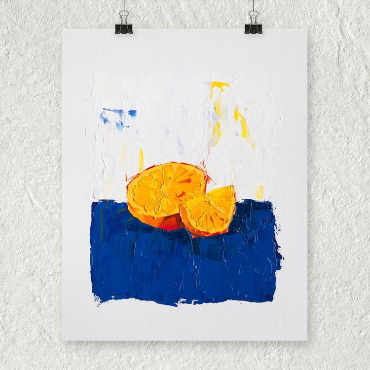 A Very Orange Painting - Image 0