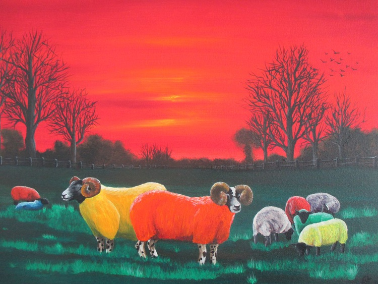 Rainbow Flock , Small Limited Edition Print - Image 0