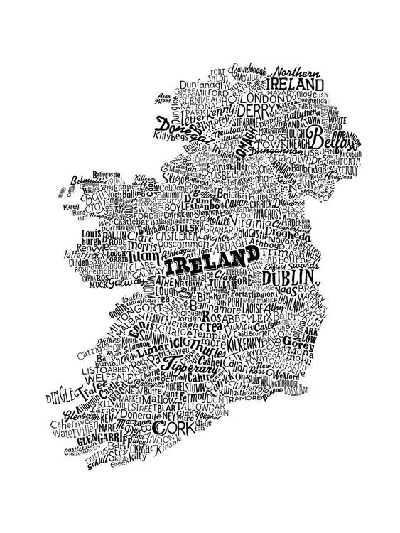 Ireland Type Map (White) - Image 0