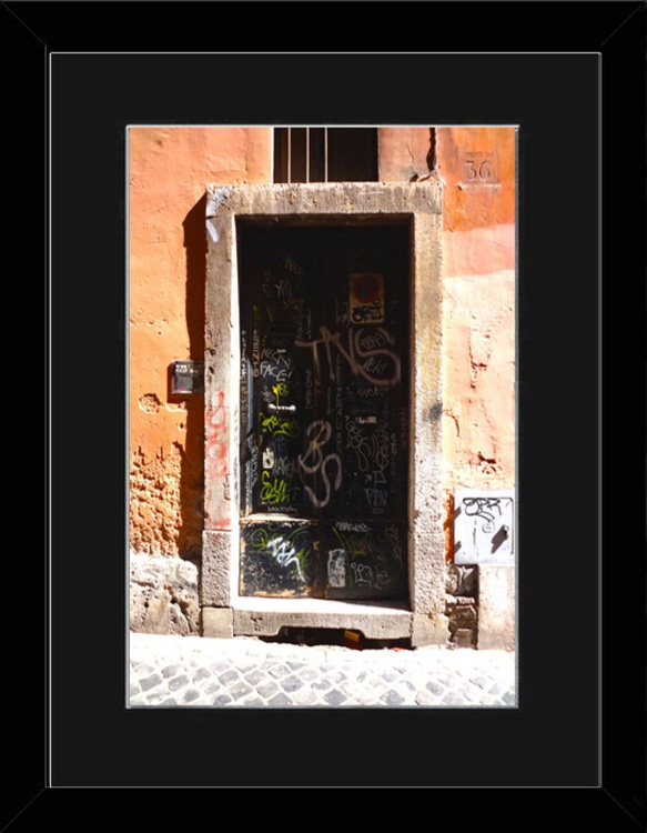 Dark Door - Rome - Framed - Image 0