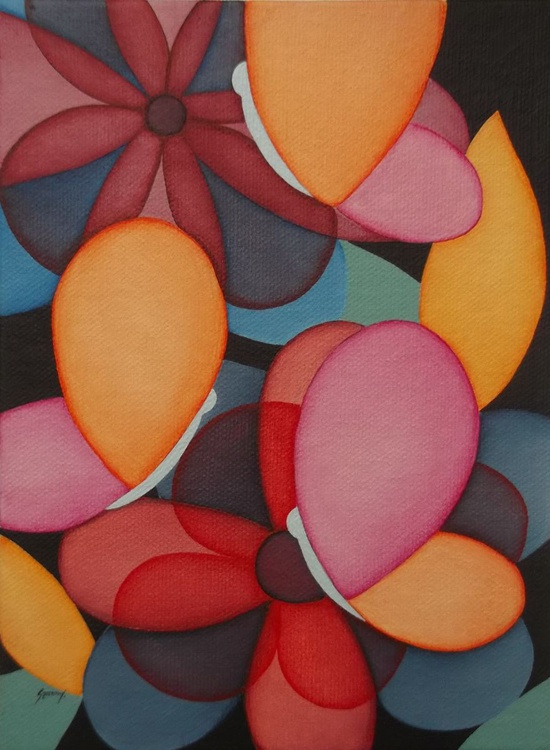 Butterflies and flowers - Image 0